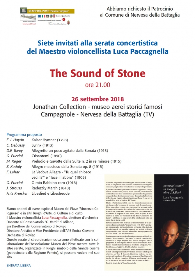 The Sound of stone - Serata consertistica